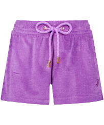 Women Others Solid - Women Terry Cloth Shorty Solid, Orchid front