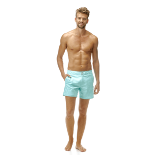Men Flat belts Solid - Solid Superflex Swimwear, Lagoon frontworn
