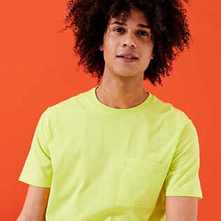 Men Others Solid - Men Organic Cotton T-Shirt Solid, Coriander frontworn