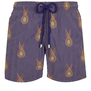 Men Classic Embroidered - Men Swimwear Embroidered Paon Paon - Limited Edition, Caraway front