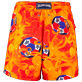 Men Classic Printed - Men Swimtrunks Octo Soccer, Poppy red back