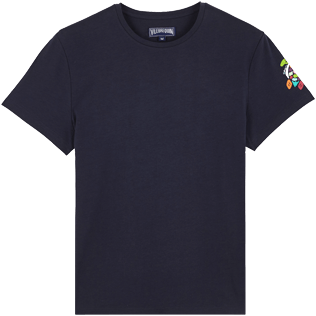 Men Others Printed - Men Cotton T-Shirt Tortues Multicolors, Navy front