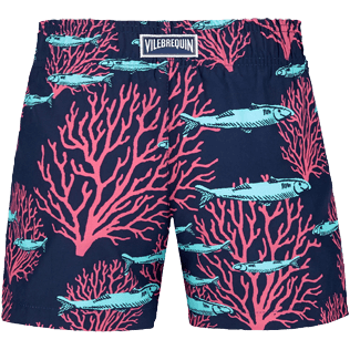 Bambina Altri Stampato - Girls Swim Short Coral & Fish, Blu marine back