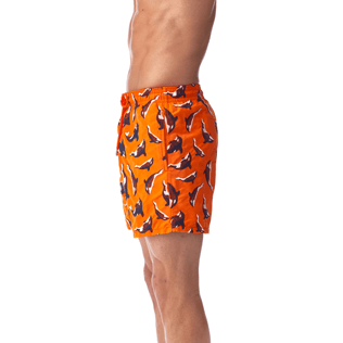 Men Classic / Moorea Embroidered - Galak Embroidered Swim shorts, Papaya supp1