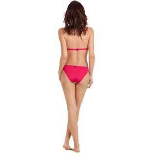 Women Classic brief Solid - Women Bikini Bottom Midi Brief Solid, Gooseberry red backworn
