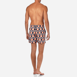 Men Classic / Moorea Printed - Primitive Turtles Swim shorts, Navy backworn