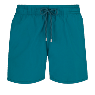 Men Classic Solid - Men Swim Trunks Solid, Pine wood front