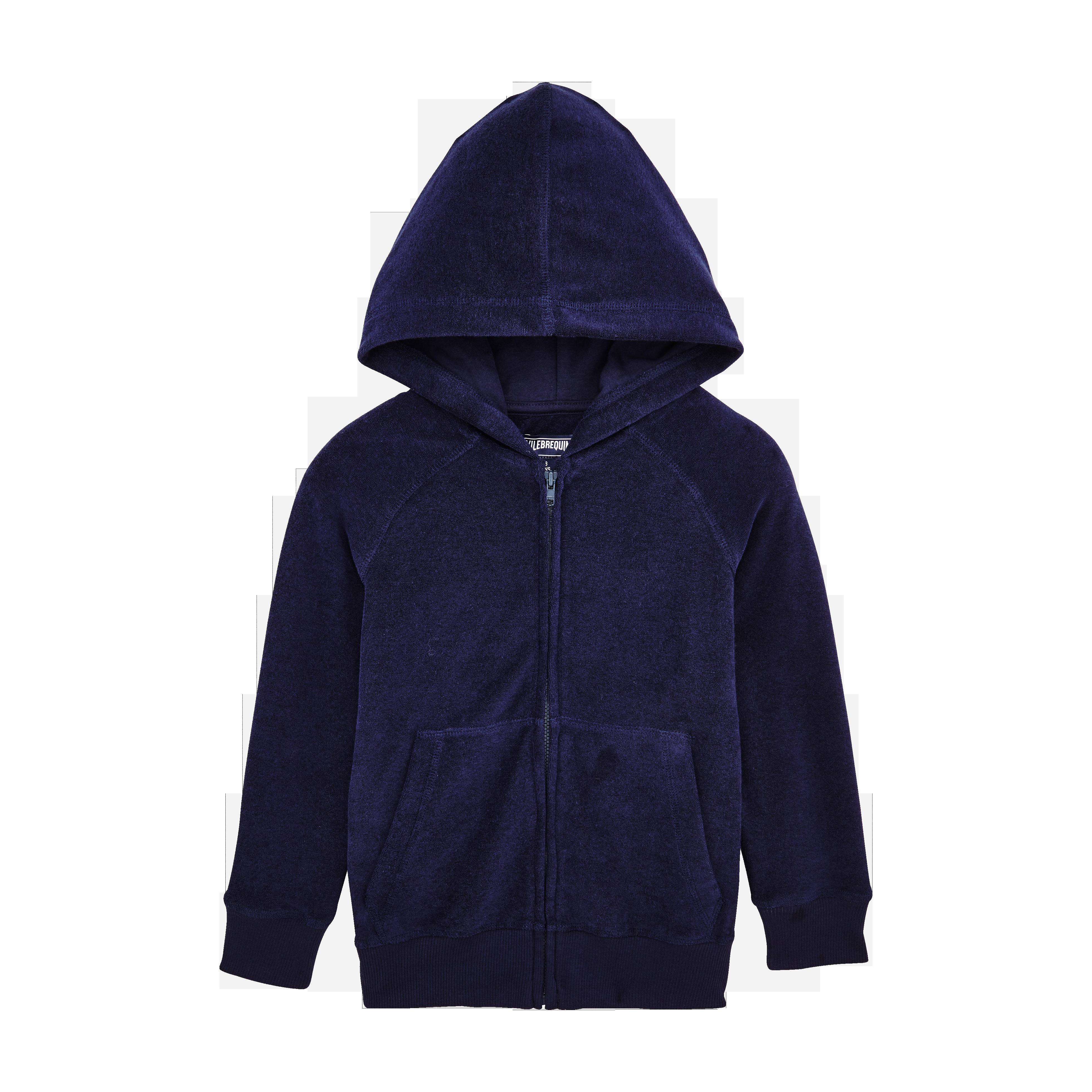 PRET A PORTER GARCON - Sweatshirt à capuche en Eponge Enfant Modernist Fish - SWEAT - RYAN - Bleu -