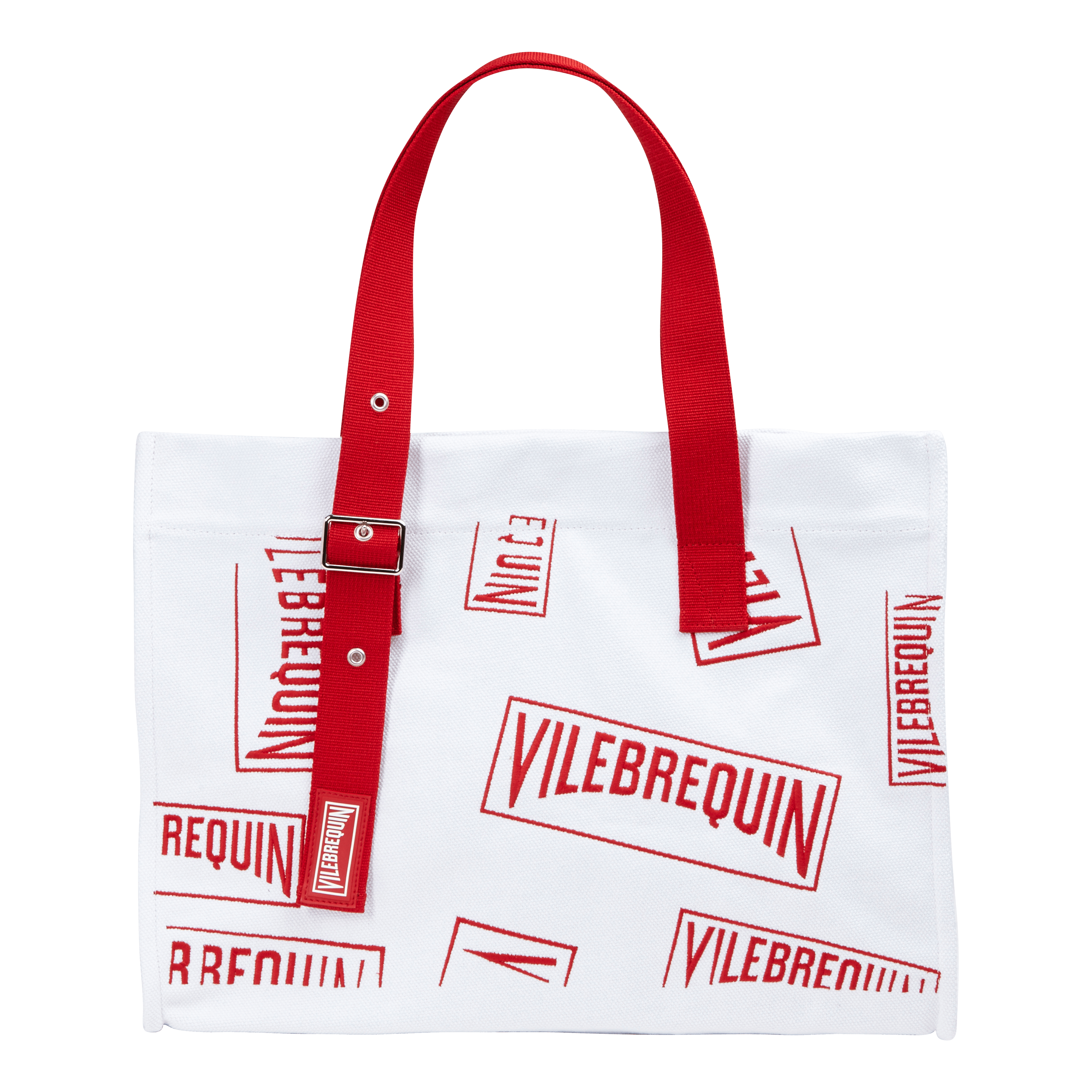 Vilebrequin Large Beach Bag ()red In White