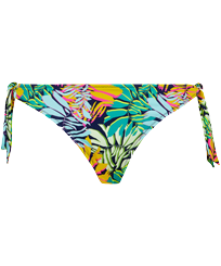 Women Classic brief Printed - Women Brief to be tied Bikini Bottom Jungle, Midnight blue front