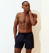 Herren Klassische dünne Stoffe Uni - Men Swimwear Ultra-light and packable Solid, Saphir frontworn