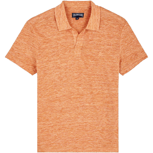 Men Others Solid - Men Linen Jersey Polo Shirt Solid, Heather blush front