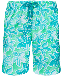 Men Long classic Printed - Men Swim Trunks Long 1993 Raiatea, Cardamom front