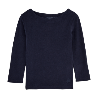 Girls Others Solid - Solid Terry Sailor Top, Navy front
