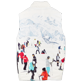 Others Printed - Unisex Reversible Sleeveless Down jacket Massimo Vitali, Sky blue back