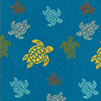 Men Swim Trunks Embroidered Ronde Des Tortues - Limited Edition, Ming blue pattern