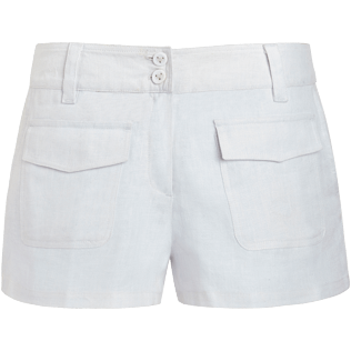 Women Others Solid - Women linen bermuda shorts solid - Vilebrequin x JCC+ - Limited Edition, White front