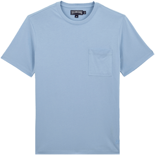 Men Others Solid - Men Pima Cotton Jersey T-Shirt Solid, Sky blue front
