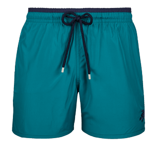 Men Ultra-light classique Solid - Men Ultra-Light and packable swimtrunks Solid Bicolor, Pine wood front