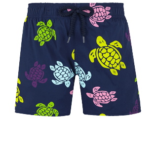 Boys Others Printed - Boys Swim Trunks Stretch Ronde des tortues, Navy front