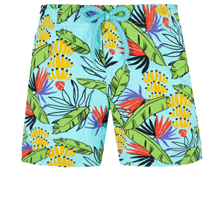 Niños Autros Estampado - Boys Swimwear Stretch Go Bananas, Lazulii blue front