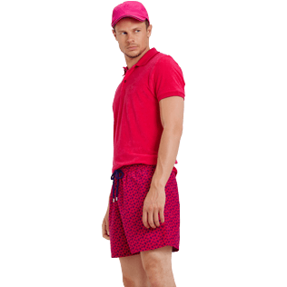 Men Classic Printed - Men Swim Trunks Micro ronde des tortues, Gooseberry red supp3