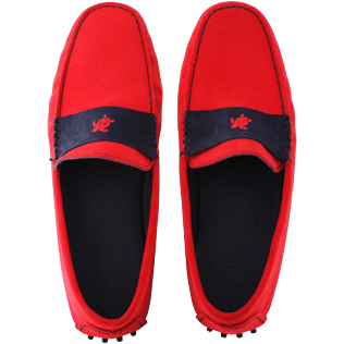 Men Others Solid - Men Very soft Daim Loafers Solid, Red polish front