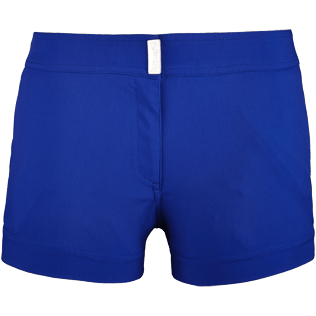 Women Shorties Solid - Women Stretch Swimwear fabric Shortie Solid, Neptune blue front
