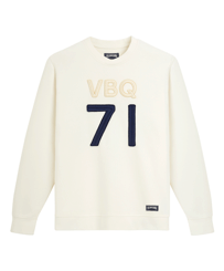 Men Others Solid - Men Crew Neck Sweater VBQ71, Off white front
