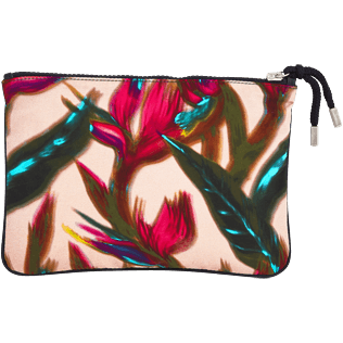 Others Printed - Zipped Beach pouch Paradise 3D, Nude back