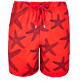 Men Embroidered Embroidered - Men Swimtrunks Embroidered Starlettes - Limited Edition, Poppy red front