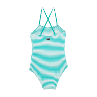 Girls One Piece Graphic - Striped Terry One piece, Lagoon back