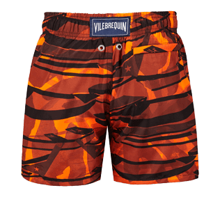 Boys Others Printed - Boys Ultra-Light and packable swimtrunks Comporta, Neon orange back