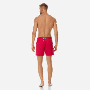 Men Classic Printed - Men water-reactive swimtrunks Tulum, Gooseberry red backworn