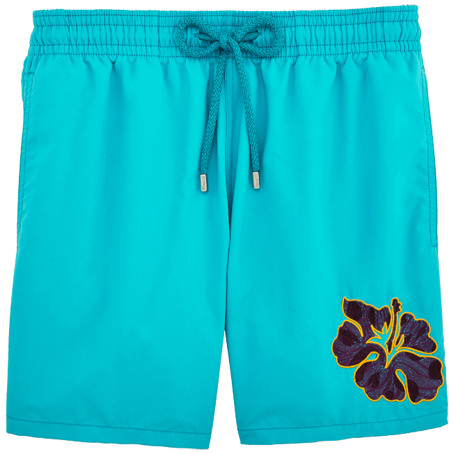 Vilebrequin - Natural Flower Placed Embroidery Swim shorts - 1