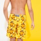 Men Long classic Printed - Men Swimwear Long 1976 Sun Turtles, Lemon backworn