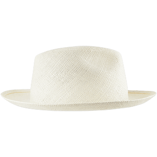 Others Solid - Unisex Natural Straw Panama Hat Solid, Sand back