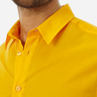 Others Solid - Unisex Cotton Shirt Solid, Mango supp1