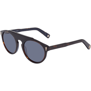 Sunglasses Solid - Blue Smoke Sunglasses, Brown back