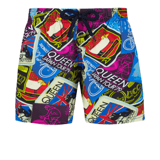 Boys Others Printed - Boys Stretch swimtrunks Queen Tour, Sea blue front