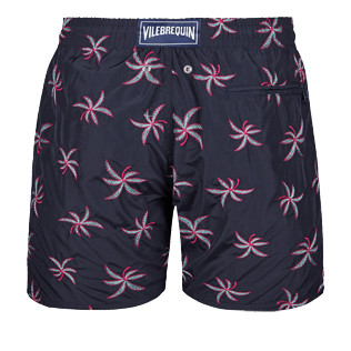 Men 017 Embroidered - Men Ultra-Light and packable embroidered Swimwear Palm Beach - Limited Edition, Navy back