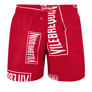 Men Classic Printed - Men Swim trunks (Vilebrequin)RED, Red back