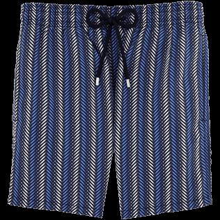 Männer Klassische Moorea Bedruckt - V Fish Badeshorts, Marineblau front