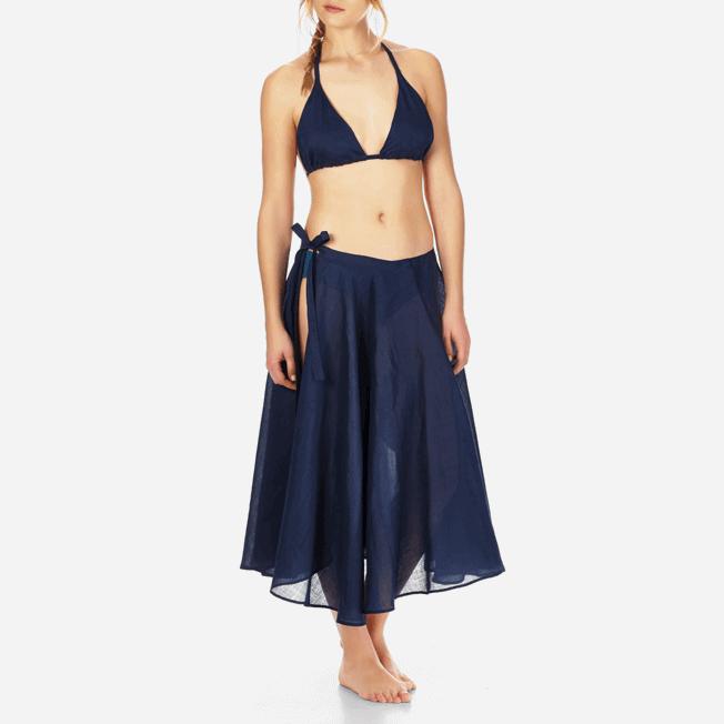 Vilebrequin - Top de triángulo en gasa de algodón liso para mujer - 2