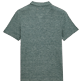 Men Others Solid - Men Linen Jersey Polo Shirt Solid, Heather green blue back