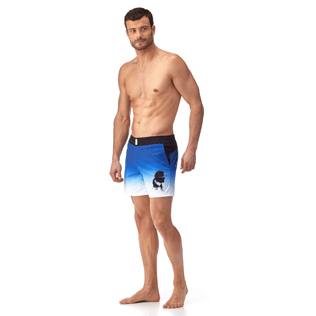 Men Flat belts Printed - Karl Lagerfeld Fitted cut Swim shorts, Ocean frontworn