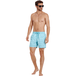 Men Classic Embroidered - Men Swimwear Embroidered Perspective Fish - Limited edition, Lagoon supp2