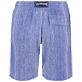 Men Others Graphic - Men Linen Cotton Shorts Bermuda Multi Rayures, Navy back