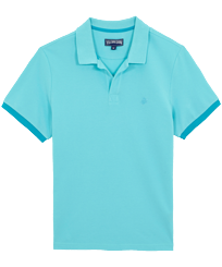 Men Others Solid - Men Cotton Pique Polo Shirt Solid, Lazulii blue front