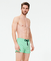 Men Short classic Solid - Men Swimwear Short and Fitted Stretch Solid, Cardamom frontworn
